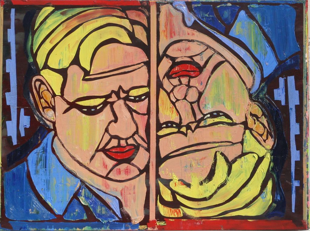 Two Faces by Stephen Clegg at www.cleggart.com